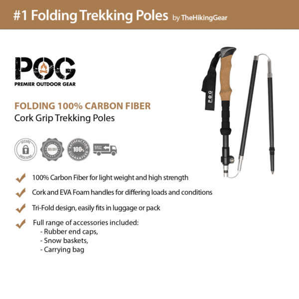 POG Kephart 3K Carbon Fiber Hiking Pole Review