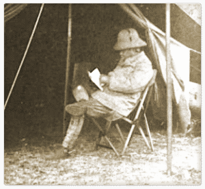 Theodore Roosevelt in a Fenby Chair