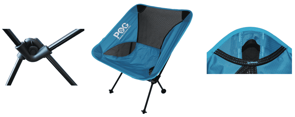 POG Springer Lightweight Backpacking Camping Chair Montage Picture