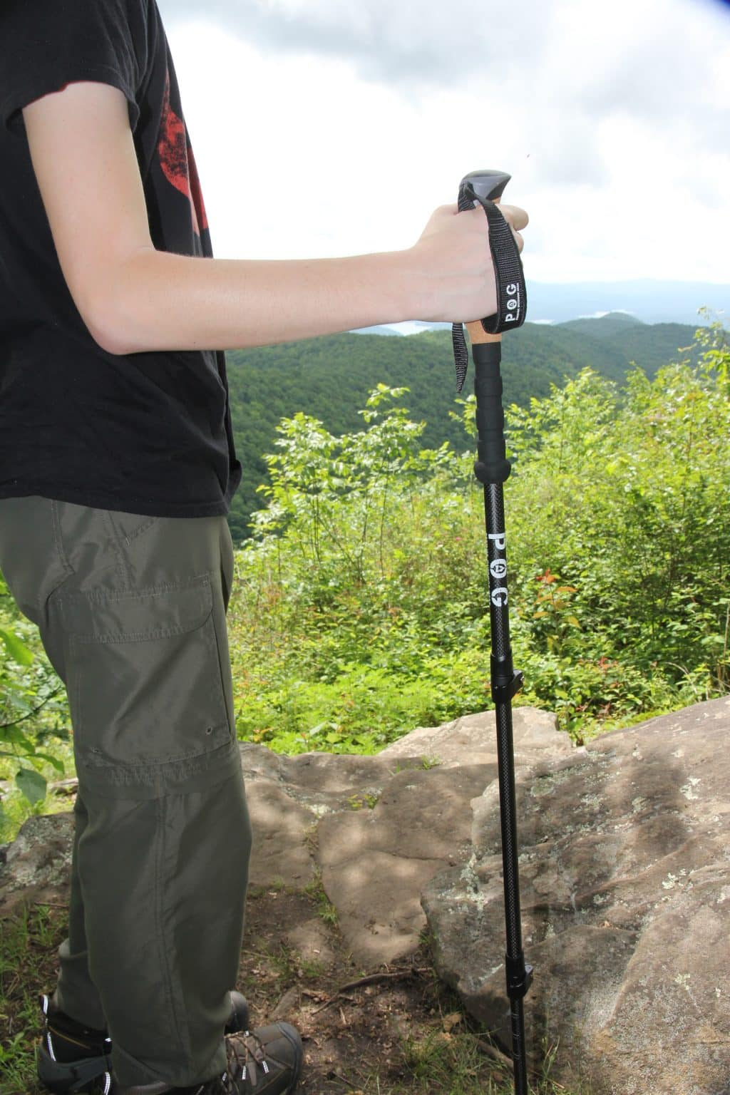 lightweight carbon trekking pole and hiking stick proper use